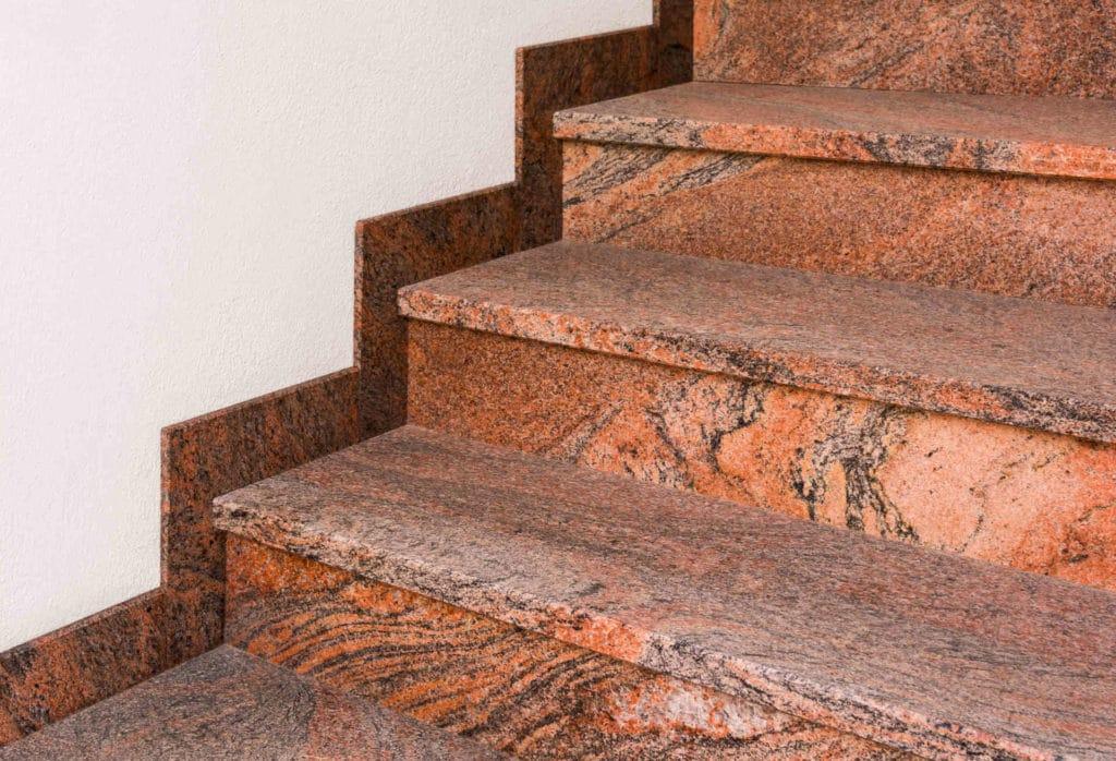 Zaawansowane Schody kamienne granitowe - Orange Stone Gdańsk MO42