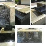 fontanna z granitu Kashmir Gold oraz Premium Black