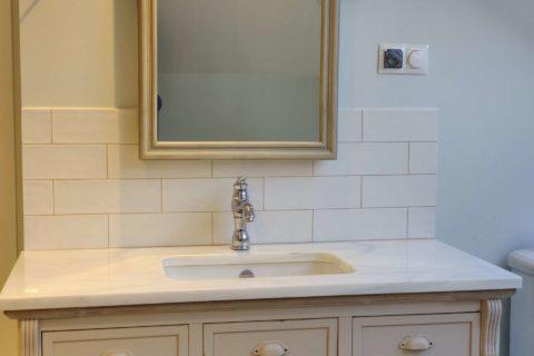 blat łazienkowy biały marmur Bianco Granada
